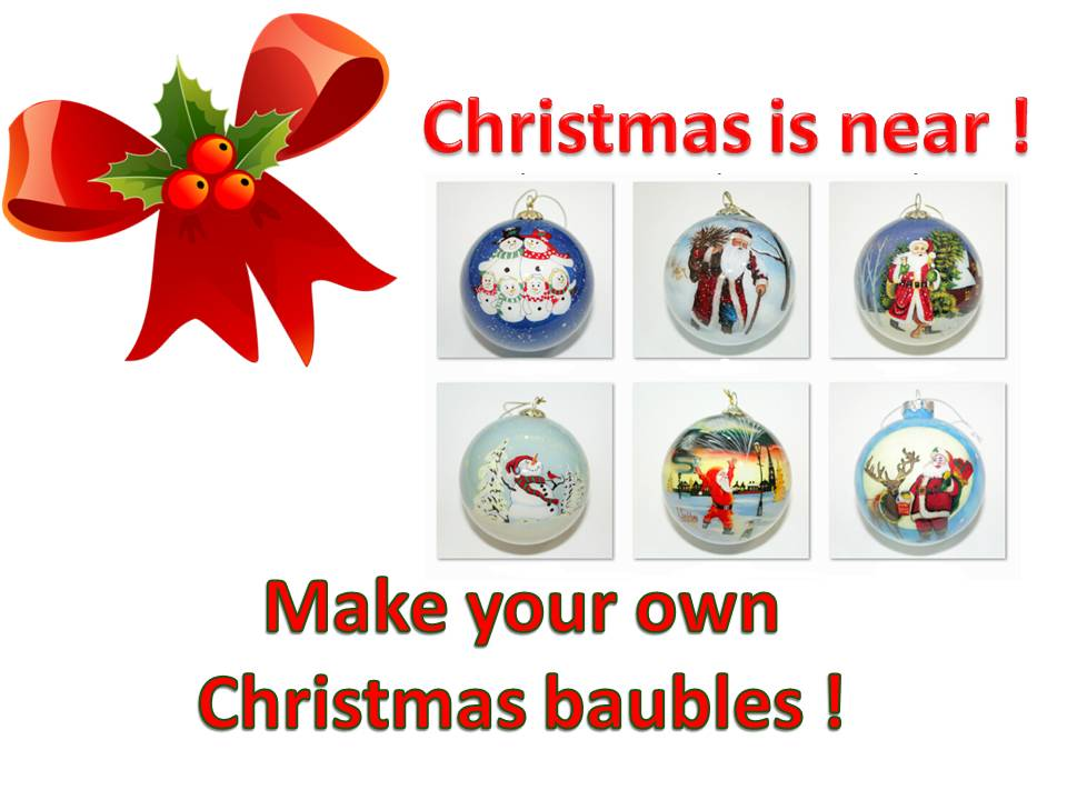 Make your own Christmas Baubles