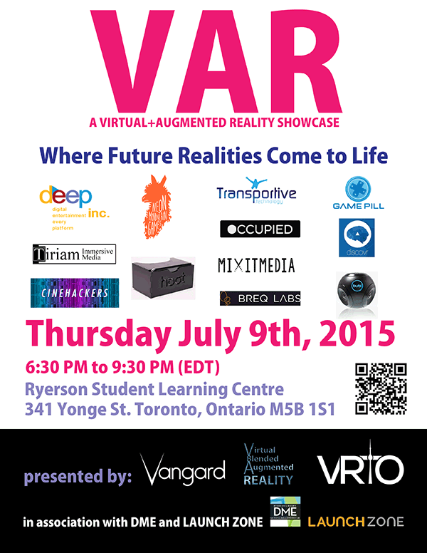 VAR Showcase July9th 2015 Poster with Exhibitors and Sponsors