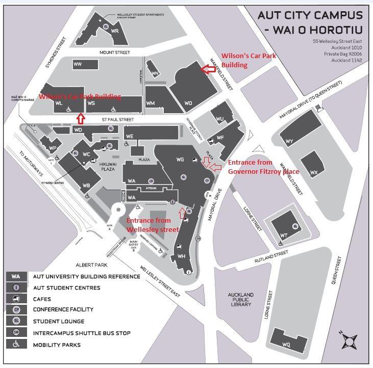 AUT Campus map