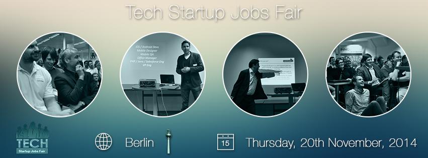 techstartupjobs fair berlin autumn 2014 tickets thu nov 20 2014 at 6 00 pm eventbrite. Black Bedroom Furniture Sets. Home Design Ideas