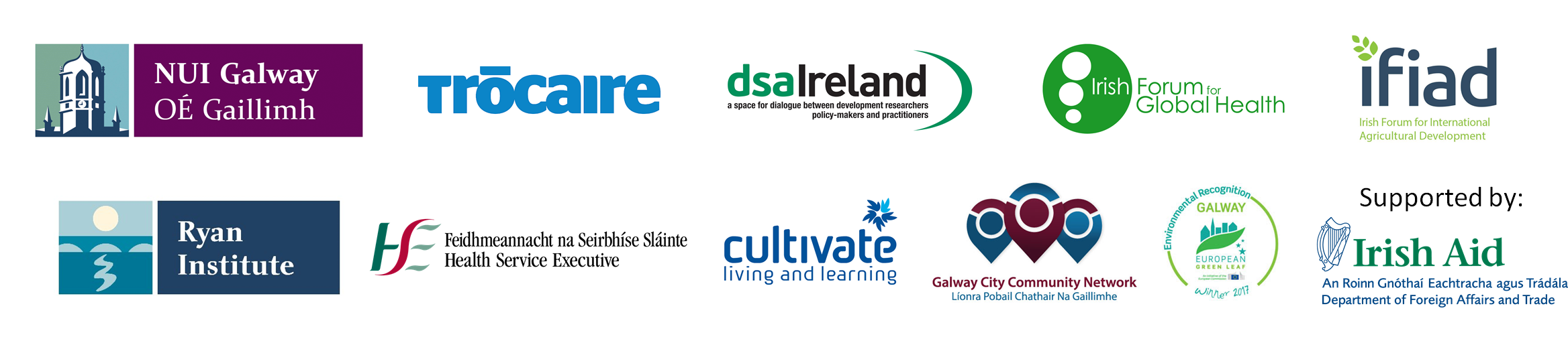 Logos of partners for Climate Change conference