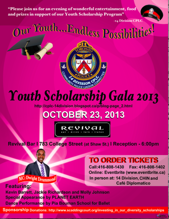 poster for Youth Scholarship Gala 2013