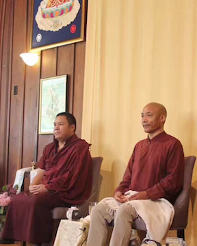 Jigme Wangdrak Rinpoche and Anam Thubten