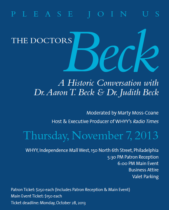 Please Join Us for the Drs. Beck on November 7 [image]