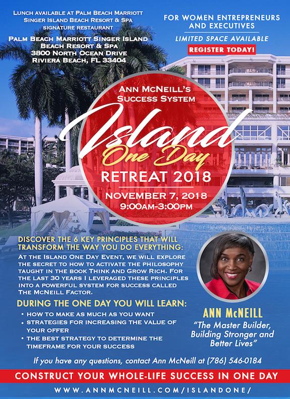 Ann Mcneill Island OneDay Flyer