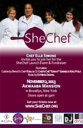 SheChef Launch Invitation
