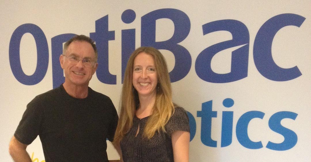 photo of Norman Brown and Kathy Wheddon from Optibac