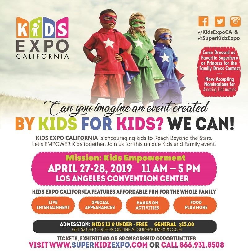 Kids Expo Los Angeles April 27-28, 2019