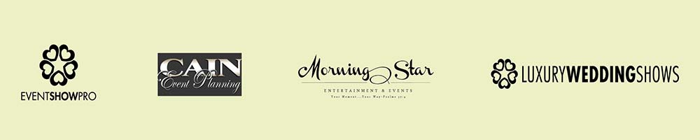 Sponsored by Event Show Pro, Cain Event Planning, Morning Star Entertainment, Luxury Wedding Shows