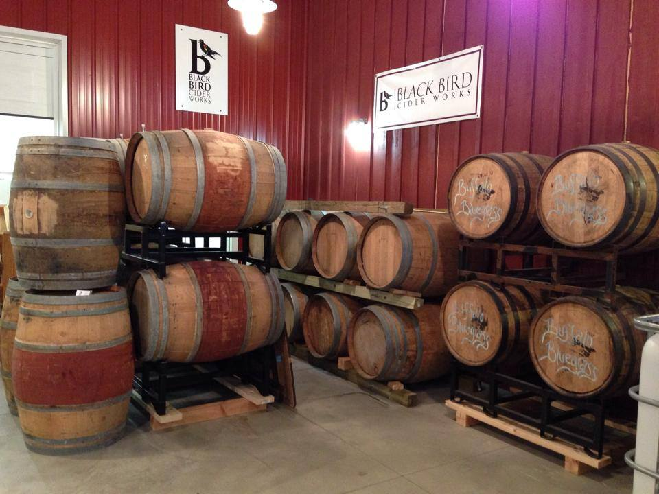 BlackBird Cider Works Barrels