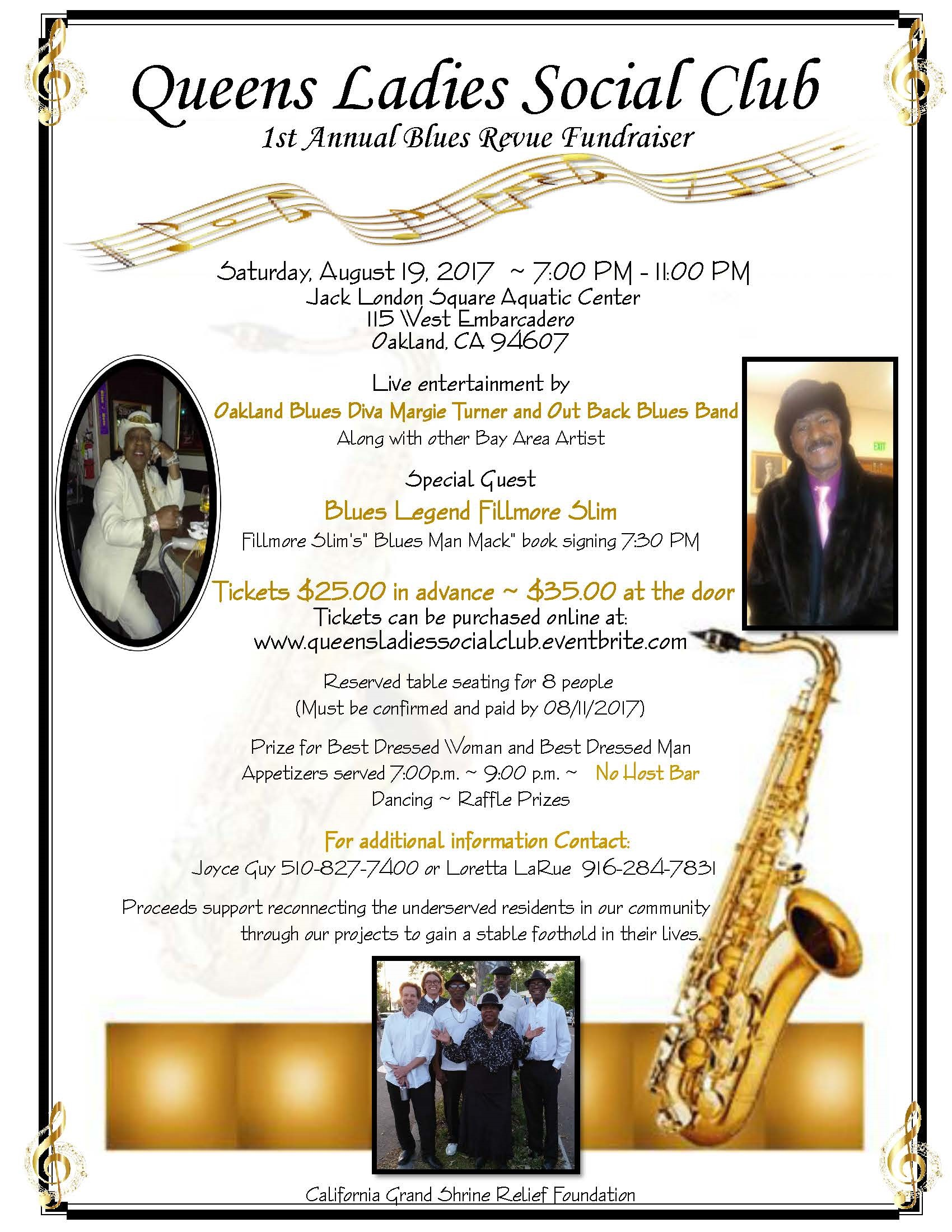1st Annual Blues Review Flyer