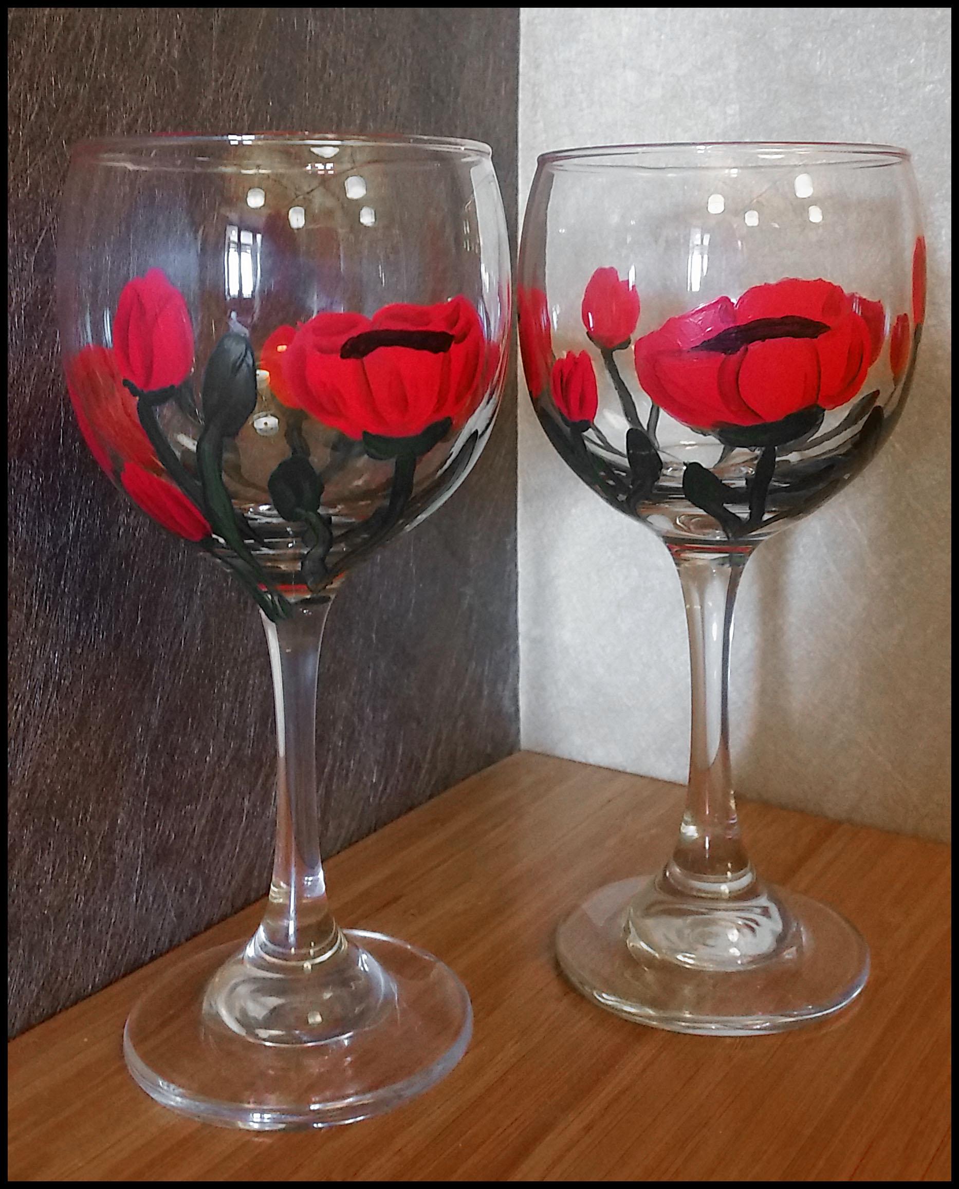 Penelope Fox Art Studio Wine Glass Painting