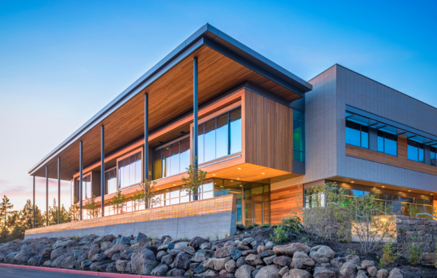 COCC's Science Center is gorgeous and spacious, offering views of the Cascades and top notch training facilities.