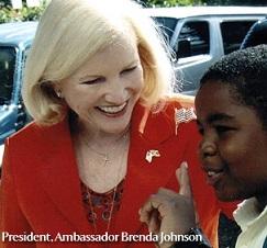 AFJ President Amb. Brenda Johnson at work