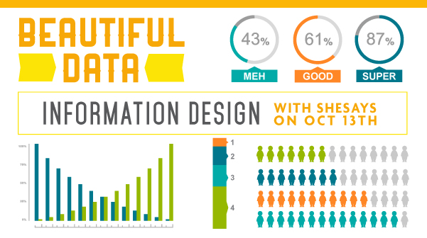 Beautiful data information design with SheSays Boulder