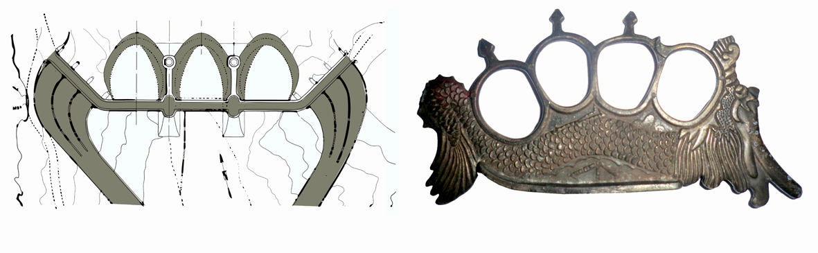 Carolina Caycedo Triple Arched Knuckle (sketch), 2013