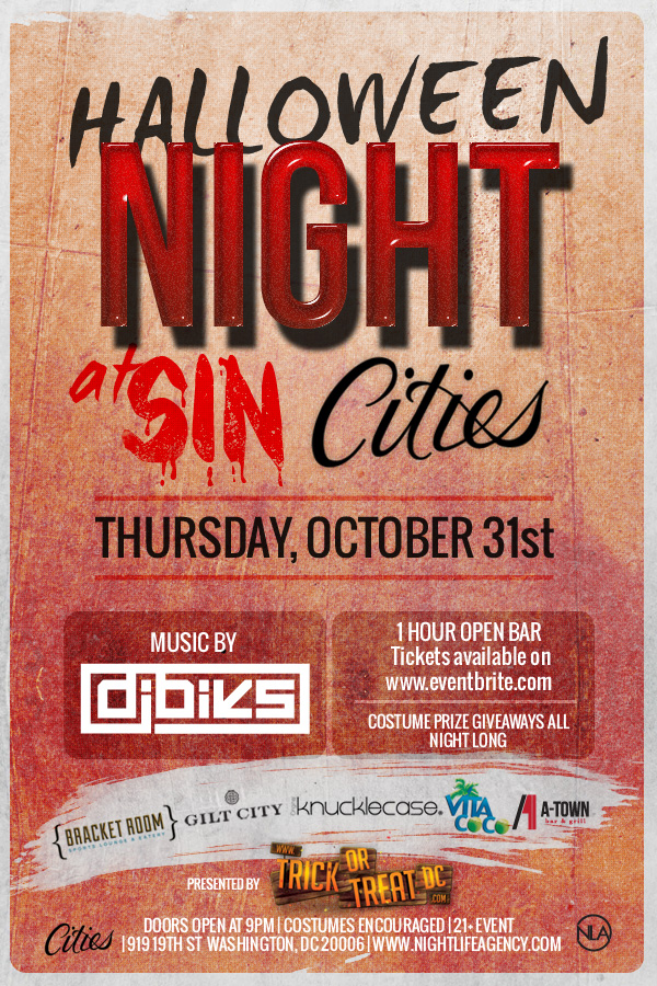 Halloween Night at CITIES || Washington DC