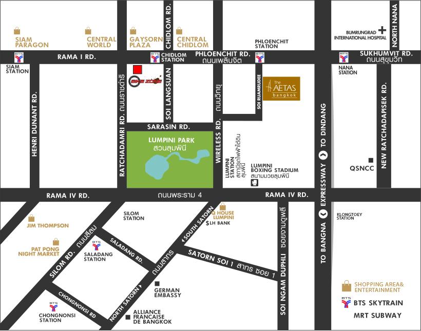 Aetas hotel map