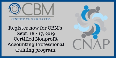 Certified Nonprofit Accounting Professional Training - Sept 16-17, 2019