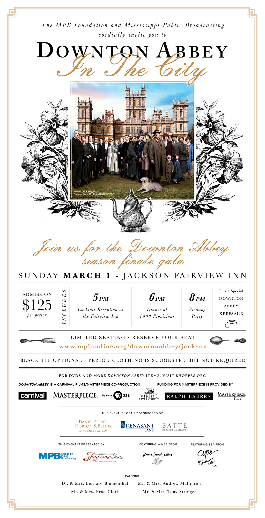 Downton abbey in the city tickets jackson eventbrite for Downton abbey tour tickets