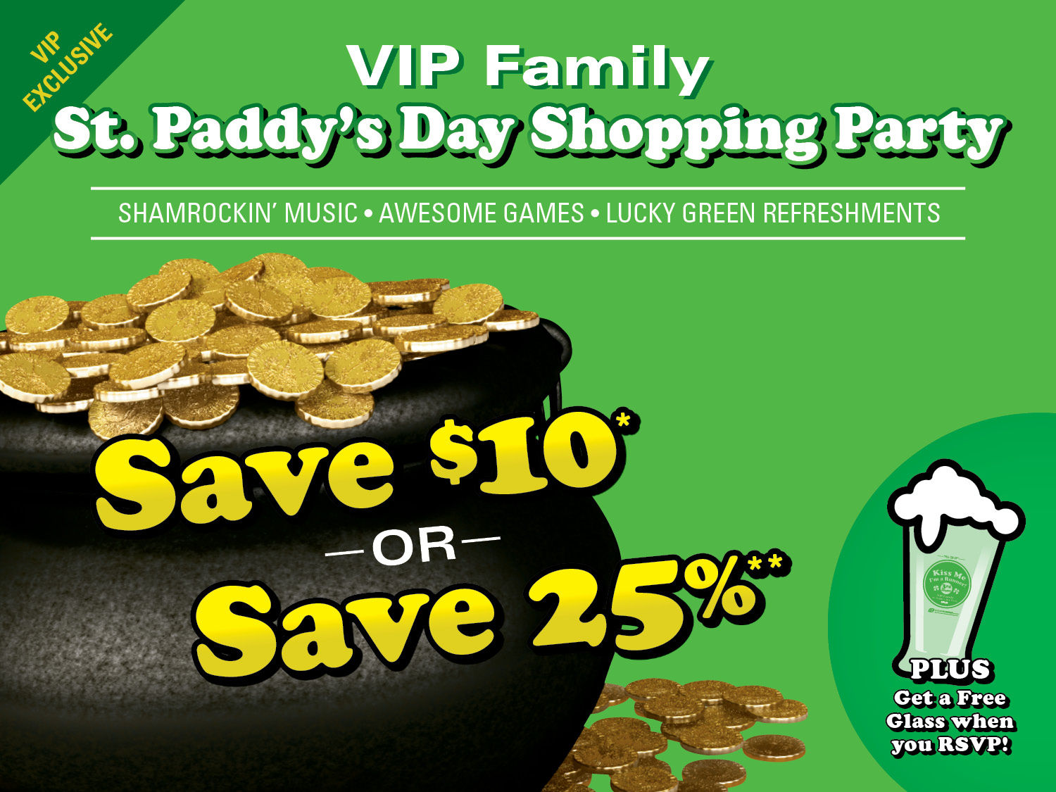 VIP Family St. Paddy's Day Shopping Party