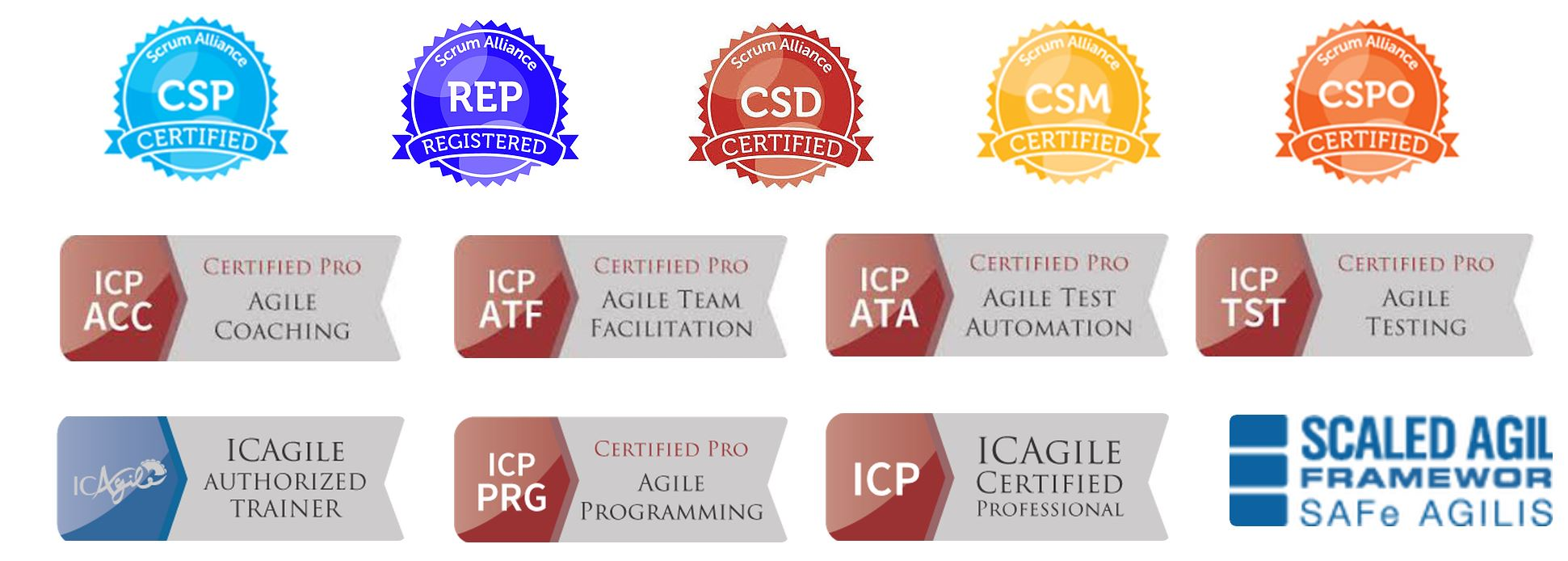 Image of Bill's Certifications