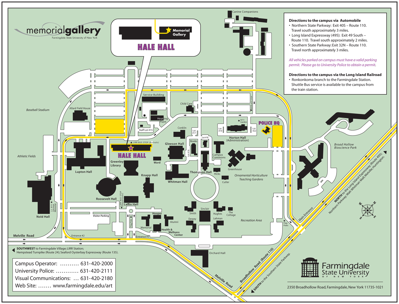 Farmingdale campus map
