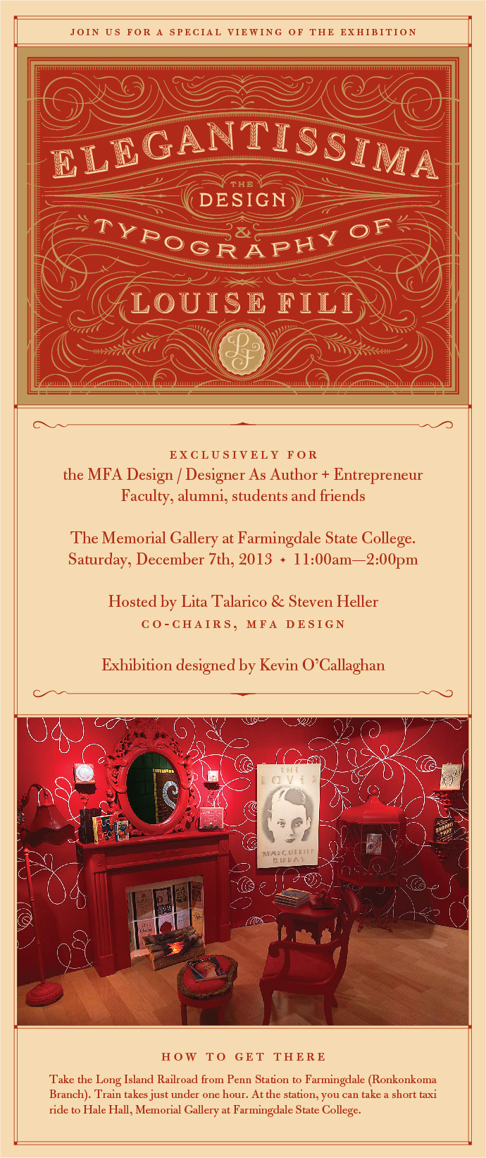 Louise Fili invitation