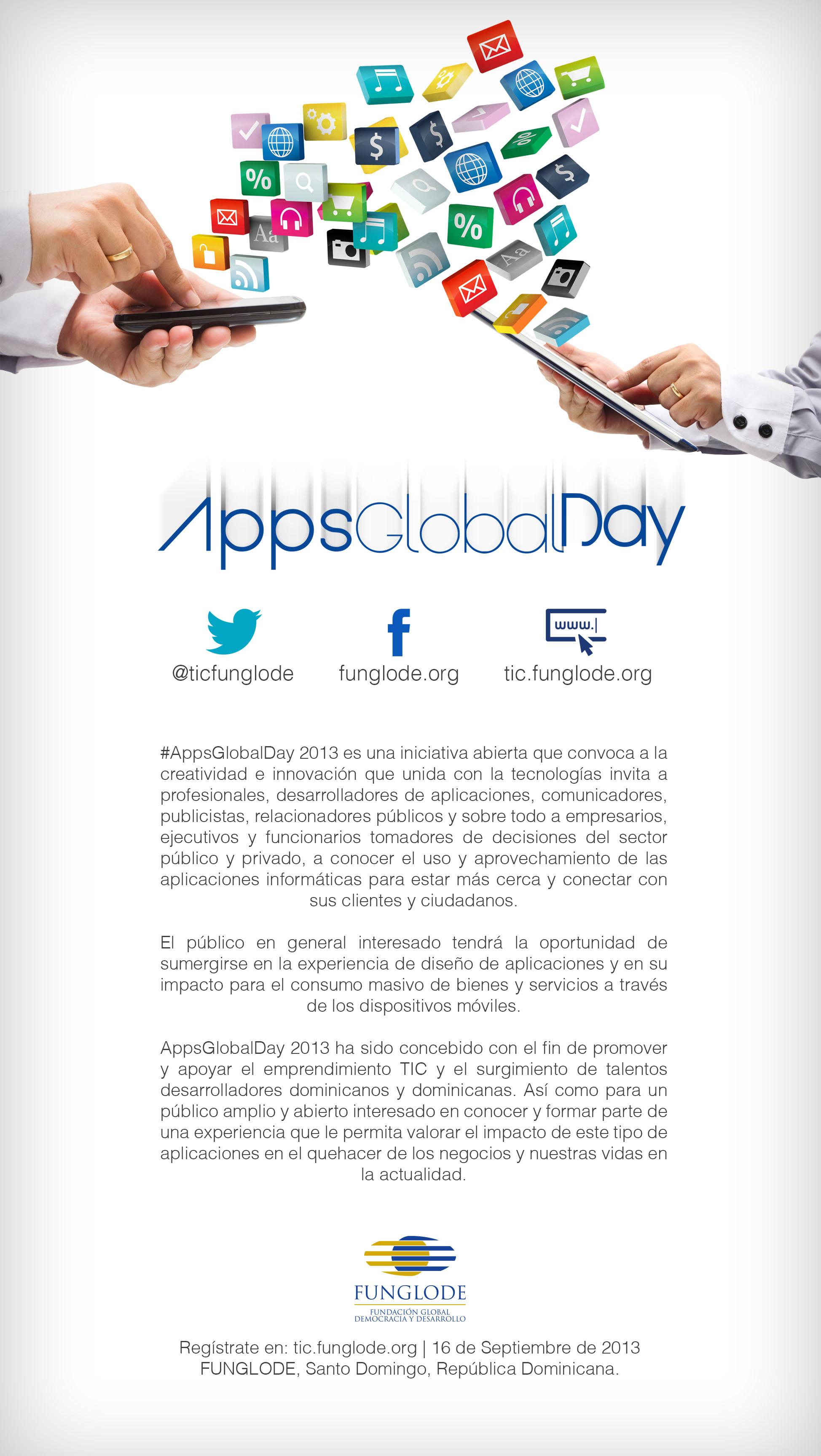 Flyer del #AppsGlobalDay