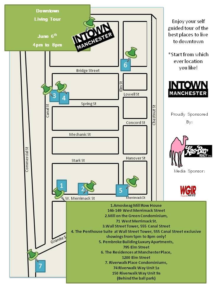 Downtown Living Tour Map