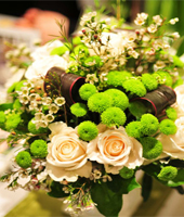 elegant;t designed wedding flower bouquet - green and white