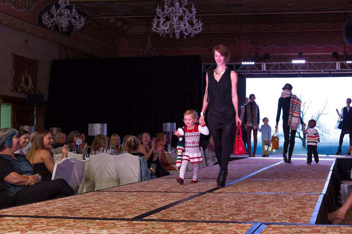 Child models for the Bear Essentials Fashion Show