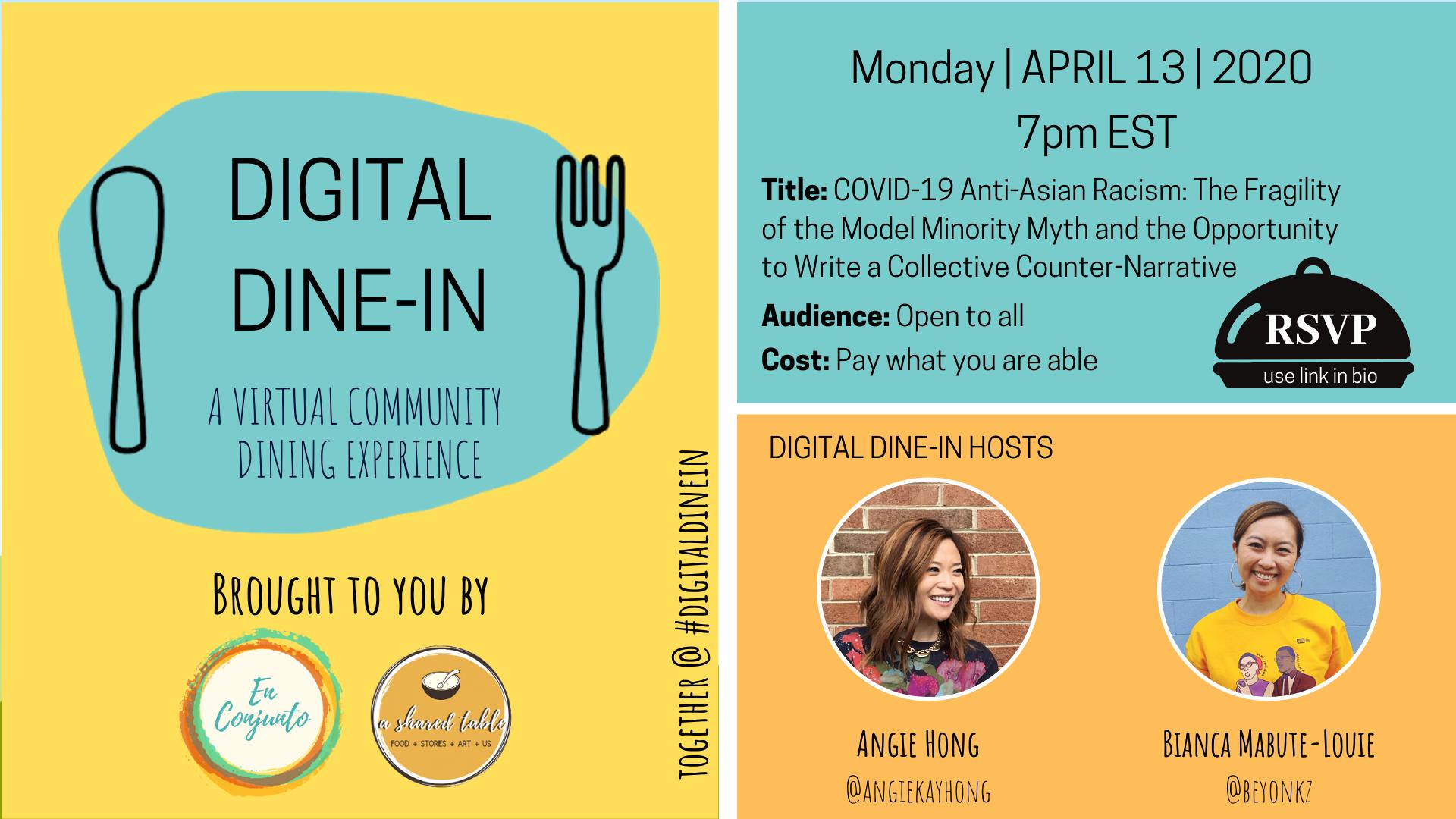 April 13 Digital Dine-In Information