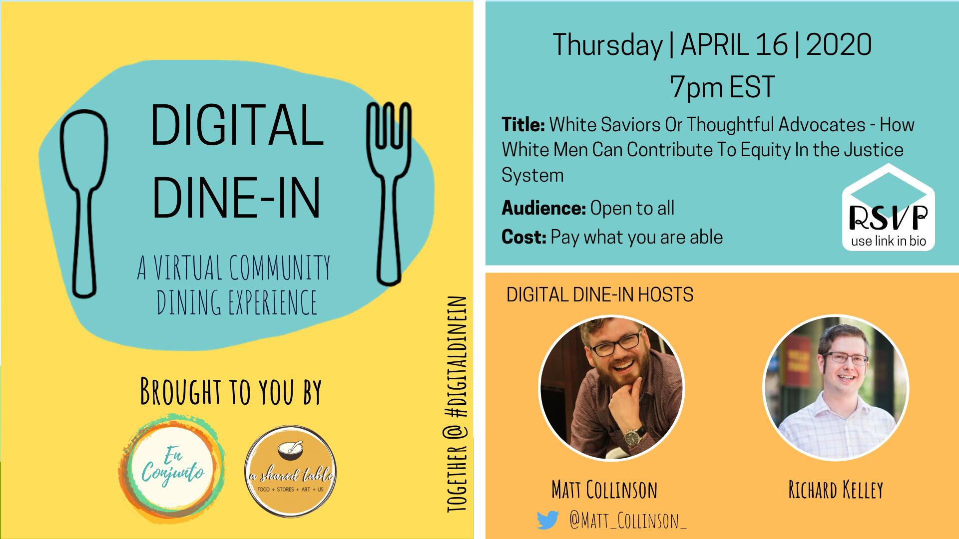 April 16 Digital Dine In Description