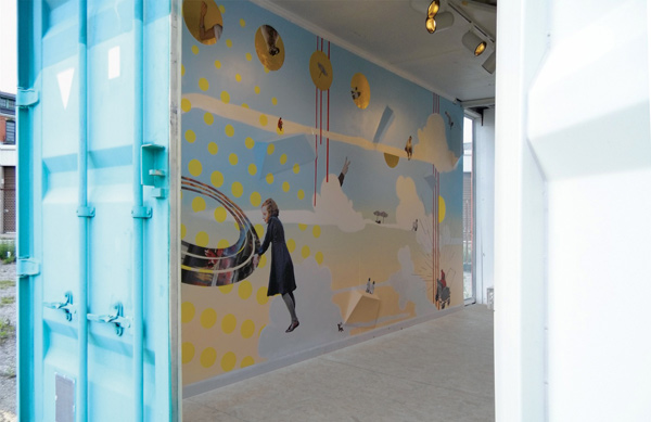 Inside of our shipping container gallery