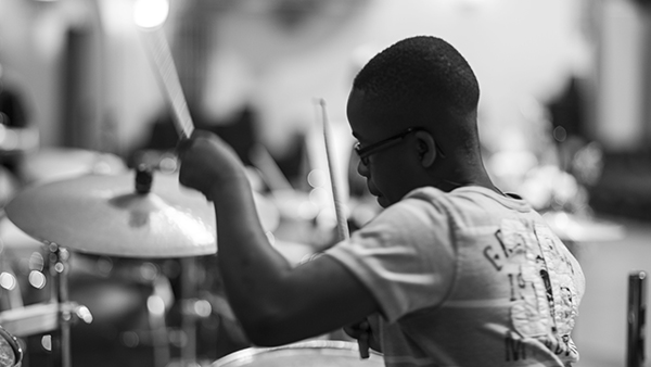 Young drummer at May 2014 Bootcamp