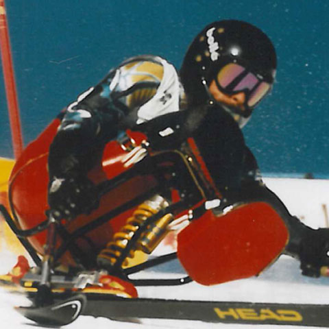 Single sit ski for Paralympics: Bill Shelly:University of Canberra