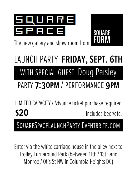 Square Space Launch Party Flier