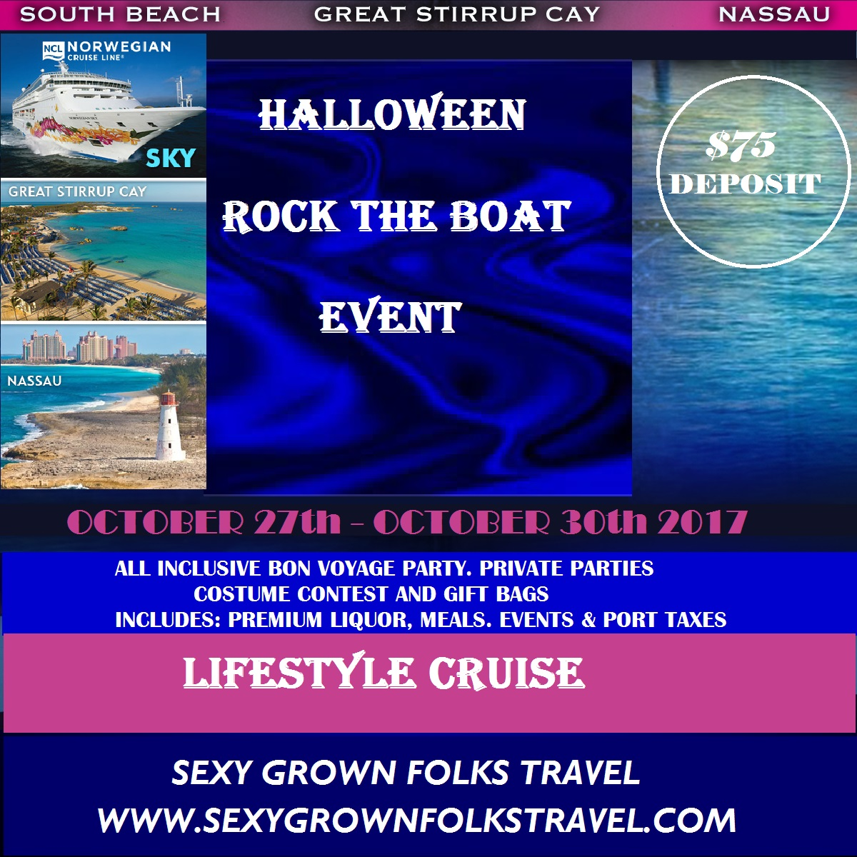 Halloween Rock the Boat.. Open Bar All Inclusive Cruise 2017 ...