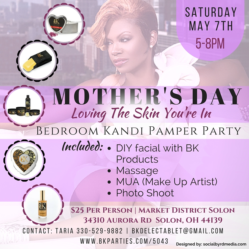 Bedroom kandi pamper party tickets sat may 7 2016 at 5 for Bedroom kandi swag bag