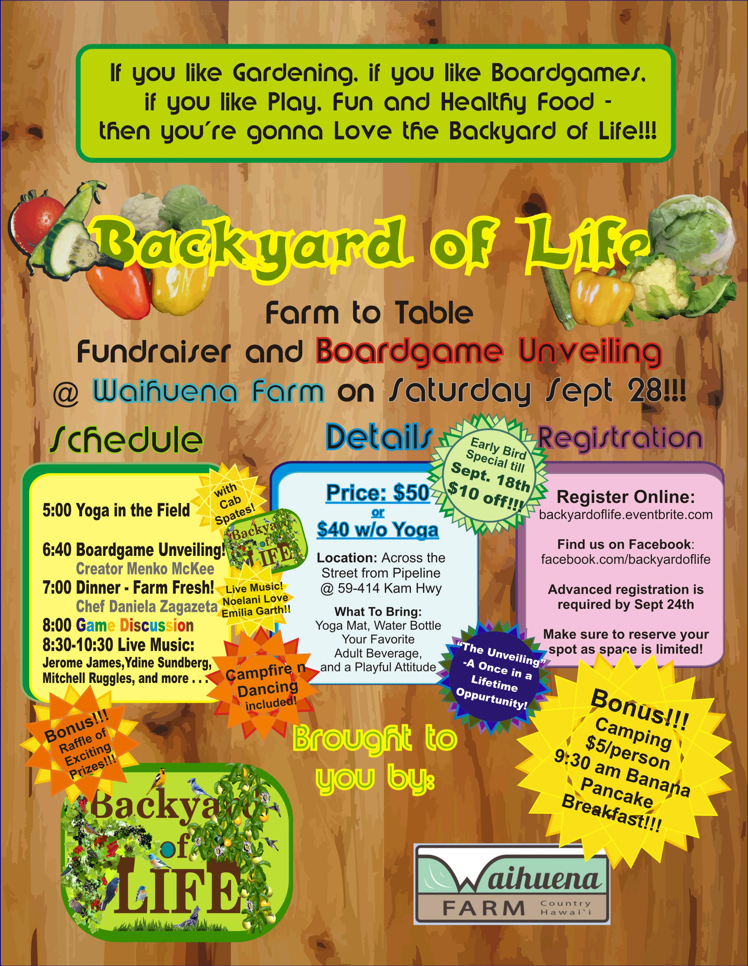 Updated Backyard of Life Event Flyer