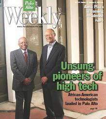 Silicon Valley Engineering Hall of Fame members Roy Clay Sr. and the late Dr. Frank Greene