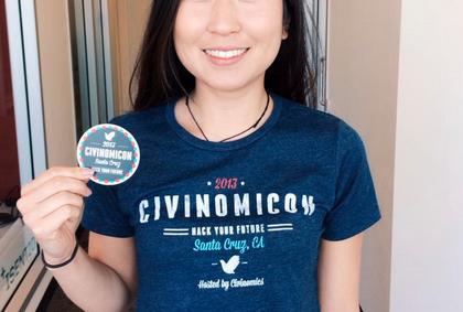 Civinomicon shirt and sticker!
