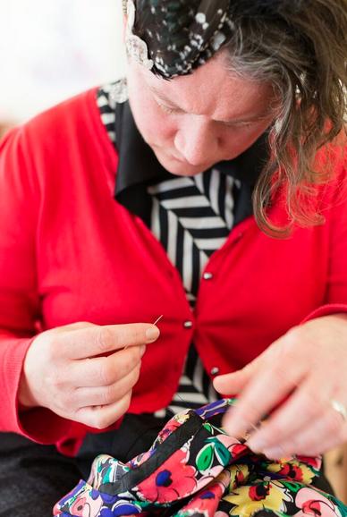 Alison Blackburn sewing