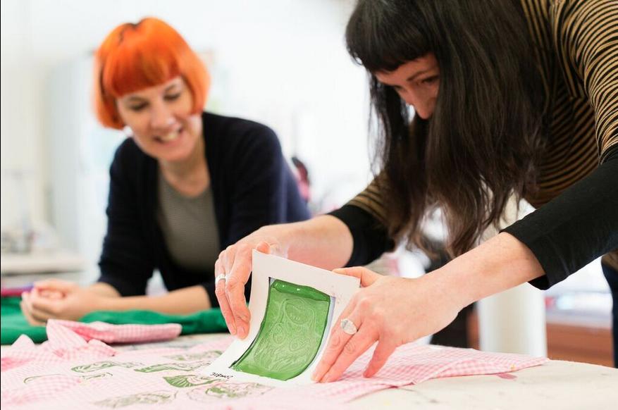 Xtina Lamb prints monsters onto a shirt