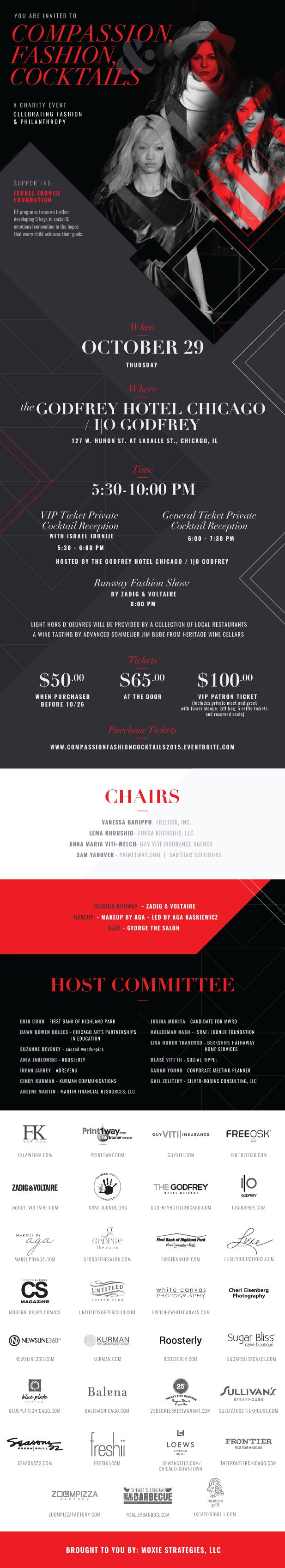 Compassion, Fashion & Cocktails 2015 - 10-29-15 - Invite