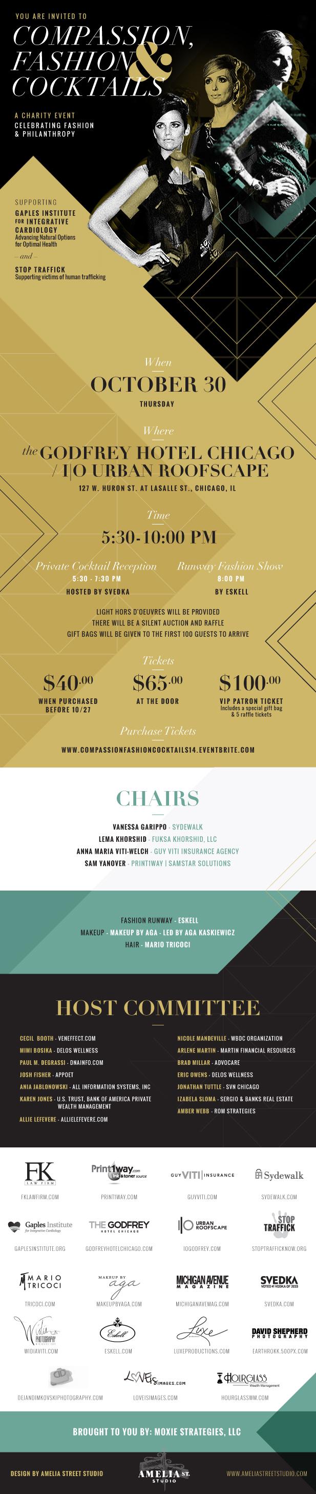 Compassion, Fashion & Cocktails 2014 Charity Event Invitation 10-30-14