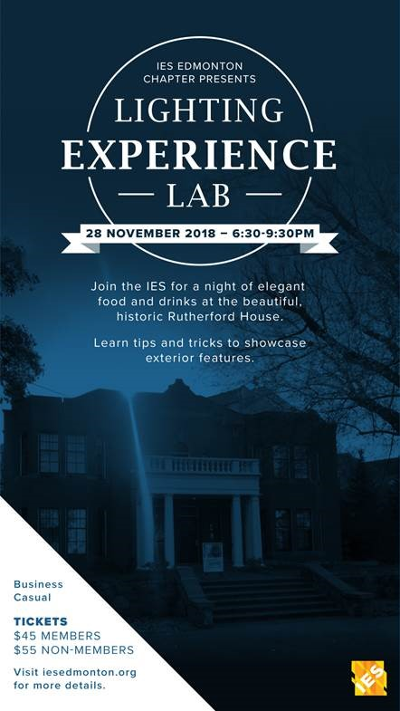 IES Edmonton Lighting Experience Lab 2018