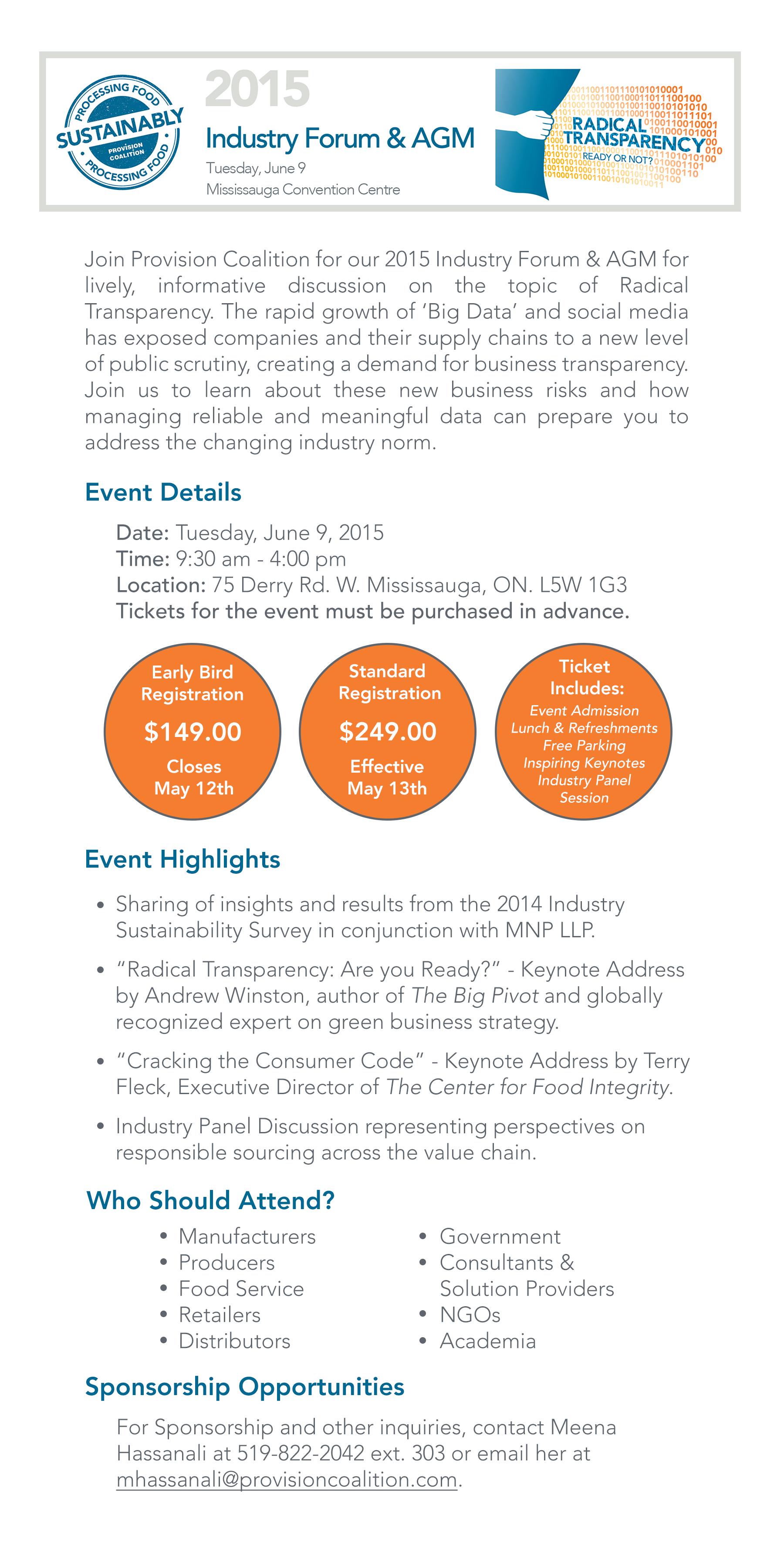 2015 Industry Forum