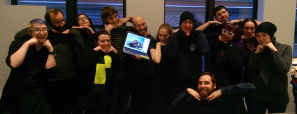 Group photo from Weaponized Social NYC